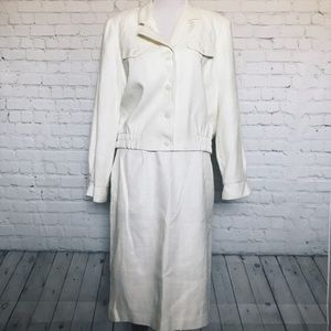 vintage skirt suit ivory / off white Kim Rogers